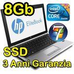 """√ Notebook HP EliteBook 8470p Core i5 2,8GHz 8Gb Ram 256Gb SSD 14.1"""" LED HD Windows 7 Professional NUOVO 3 Anni - Super Prezzo"""