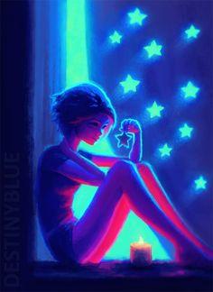 night maker by destinyblue - Sweet Digital Art by DestinyBlue