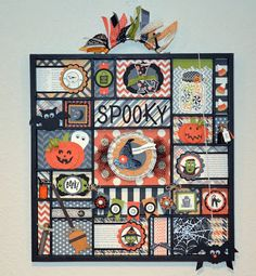 Stampin' Up! - Howlstooth & Scaringbones dsp - Paper, Pansies and Pachyderms: Halloween Printer's Tray Decor