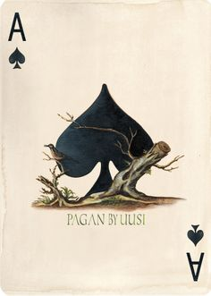 Ace of Spades from the Pagan Playing Card Deck.