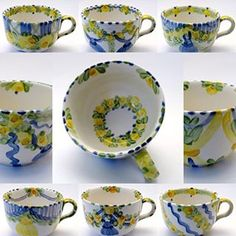 Hand Painted, House Design, Plates, Mugs, Tableware, Unique, Interior, Dishes, Tea Cups