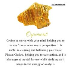 The name Orpiment is derived from the Latin Auripigmentum, meaning gold pigment, in reference to its color and historical use as a golden-yellow pigment.