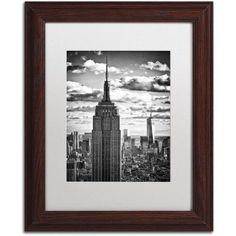 Trademark Fine Art New York Skyscrapers Canvas Art by Philippe Hugonnard, White Matte, Wood Frame, Size: 16 x 20