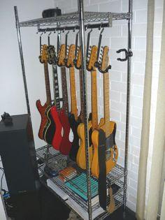 Get Those Guitars Off The Floor!   Storage Geek