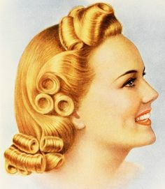 40s vintage  hair up inspiration