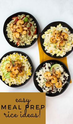 #ad @minutericeUS 4 Simple Rice Variations, Minute Rice recipes, meal prep with rice, shrimp meal prep, quick meal prep ideas, Italian- Inspired Pesto Rice, a fun Island-Style Rice, a Fiesta Black Bean and Cilantro Lime Rice, or a Zesty Green Chile and Corn Rice. pineapple rice, Side Dish Recipes, Lunch Recipes, Seafood Recipes, Dinner Recipes, Healthy Recipes, Easy Recipes, Sweets Recipes, Easy Meal Plans, Easy Meal Prep