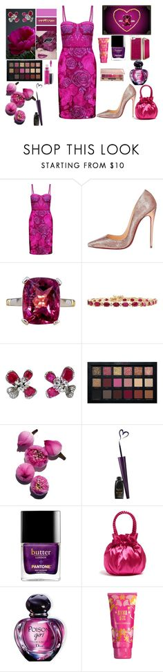 """""""STRUTTING YOUR STUFF"""" by rebeccadavisblogger ❤ liked on Polyvore featuring Notte by Marchesa, Christian Louboutin, Arunashi, Staud, Christian Dior, Anna Sui and Estée Lauder"""