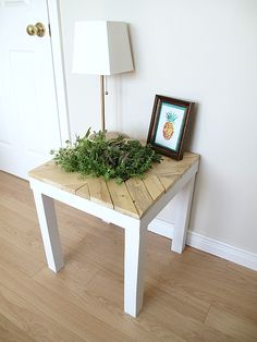 Succulent Planter Table: http://sharktails.ca/2016/07/04/ikea-lack-table-hack-succulent-planter/