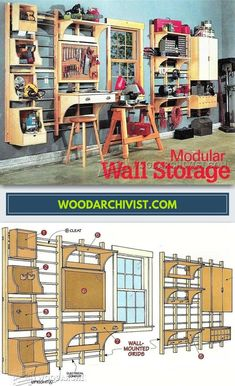 Workshop Modular Wall Storage System - Workshop Solutions Projects, Tips and Tricks | WoodArchivist.com