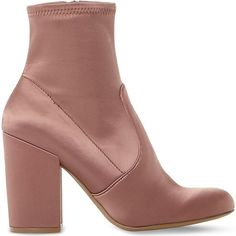 e3555411284 Steve Madden Gaze stretch-satin heeled ankle boots Pink Ankle Boots