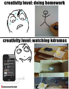 Creativity level: watching Kdramas