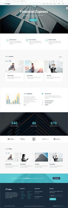 Buy Trade - Business and Finance WordPress Theme by themebeer on ThemeForest. Trade is responsive, Business and Finance WordPress theme. It is specially designed for Business, Corporate ,Financia. Trade Finance, Finance Business, Finance Tips, Business Professional, Insurance Website, Tax Help, Printed Portfolio, Financial Instrument, Accounting