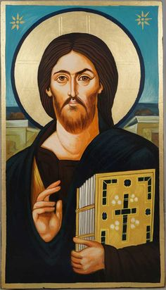 Hand-painted icon of Christ Pantocrator (Sinai) - St. Catherine's Monastery at Sinai About our icons BlessedMart offers hand-painted religious icons that follow the Russian, Greek, Byzantine and Roman Catholic traditions. We partner with some of the most experienced iconographers in the country. Artists with more than 20 years of experience in modern iconography. Each and every icon that
