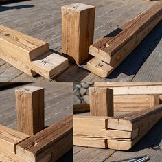 Diy King Bed Frame, Bed Frame And Headboard, Diy Bed, Bed Frame Design, Bed Design, Woodworking Box, Woodworking Projects Diy, Tire Furniture, Cool Furniture