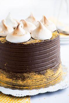 Banana-Graham S'mores Cake Supreme | Sweetapolita
