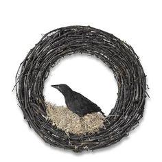 Halloween Crow Wreath #williamssonoma