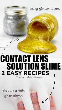 Borax Slime, Slime No Glue, Diy Slime, Glittery Slime, Metallic Slime, Making Slime Without Borax, How To Make Slime, Cool Slime Recipes, Easy Slime Recipe