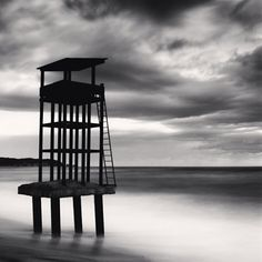 Watch Tower, Study 29, Mangyang Beach, Gyeongsangbukdo, South Korea, 2010 by Michael Kenna