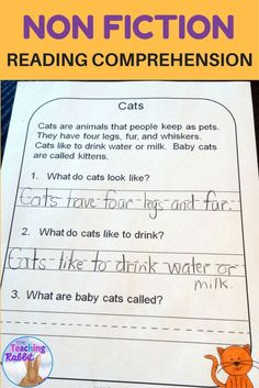 These 20 non-fiction passages about animals for first grade have simple questions to help students develop basic comprehension skills.
