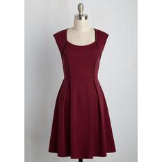 Nautical Mid-length Sleeveless A-line Talking �Bout My Delegation... ($60) via Polyvore featuring dresses, apparel, fashion dress, red, knit dress, a line dress, sleeveless a line dress, a line silhouette dress and purple a line dress