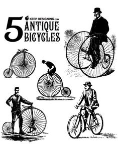 Vintage Bicycle Vectors for graphic designers Ideas Vintage, Vintage Labels, Retro Vintage, Vintage Ephemera, Vintage Cards, Vintage Bicycle Parts, Vintage Bicycles, Bicycle Art, Bicycle Design
