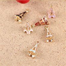 Ručné Making 10ks / lot Alloy Pozlátené šperky Eiffelovka Prívesky Prívesky pre náramok náhrdelník DIY výrobu šperkov SC-12 (Čína (pevninská časť))