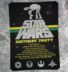Star Wars Party Invitation Download