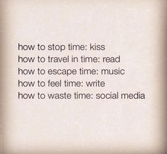 how to stop time kiss