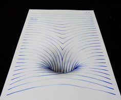 Il réalise des dessins 3D en traçant de simples lignes sur une feuille blanche ! | Joao Carvalho