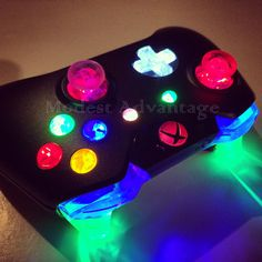 Xbox One Controller Full Led Mod ** by abxymods on Etsy https://www.etsy.com/listing/229272978/xbox-one-controller-full-led-mod-choose