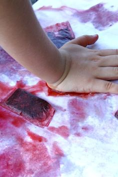 Explore the 5 Senses with Kids Painting with Tea Bags