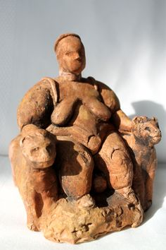 EARLY NEOLITHIC - Seated Mother Goddess, c. 6500. Çatal Höyük, Turkey.
