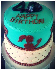 2 Tier 40th bday cake