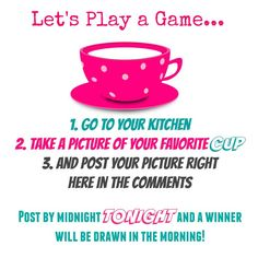 Cup Game, great idea for a giveaway and engaging your followers on your fan page! -Follow Driskotech on Pinterest!