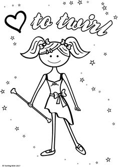 baton coloring pages - photo#2