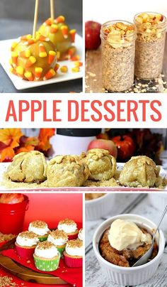 the ultimate list of apple desserts for Autumn / Fall. Yum!