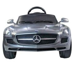 6v kids electric ride on car licensed mercedes benz sls with rc grey