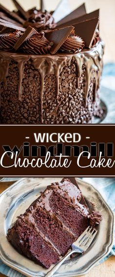 For the real hard-core chocolate lovers; this wicked windmill chocolate cake is … For the real hard-core chocolate lovers; this wicked windmill chocolate cake is a true masterpiece that's guaranteed to wow your guests. Chocolate Fudge Frosting, Chocolate Desserts, Cake Chocolate, Chocolate Cake Decorated, Extreme Chocolate Cake, Chocolate Fondue, White Chocolate, Just Desserts, Delicious Desserts