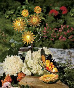 Solar Sunflower Garden Decor