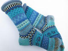 Socken - JuniHimmel  - Socken Gr. 37/38 - ein Designerstück von Lotta_888 bei DaWanda