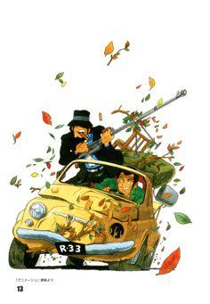 My life in fermentation — rocketumbl: 大塚康生 Comic Kunst, Comic Art, Studio Ghibli, Animation, Illustrations, Illustration Art, Manga Anime, Anime Art, Lupin The Third
