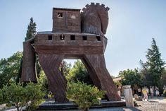 Troia outside Cannakale, Turkey - Trojan horse