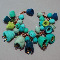 Felt charm bracelet by TANJAHOLMER