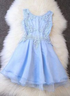 Organza Embroidered Sleeveless Dress Semi Dresses, Grad Dresses, Dance Dresses, Pretty Dresses, Dress Outfits, Short Dresses, Dress Up, Formal Dresses, Luulla Dresses