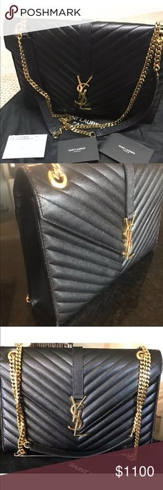YSL 100% authentic large shoulder bag BRAND NEW‼️ 100%authentic great condition NO LOW BALLS‼️NEW CONDITION‼️ YSL Bags Shoulder Bags