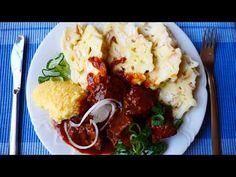 Hovězí guláš = recept české klasiky na Vašem stole - YouTube Cauliflower, Mashed Potatoes, Vegetables, Ethnic Recipes, Youtube, Food, Red Peppers, Whipped Potatoes, Cauliflowers