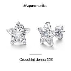 Orecchini in acciaio con resina, madreperla e cristalli bianchi Luca Barra Gioielli! #orecchini #gioiellidonna #lucabarra #newcollection #tendenzemoda #pe2015