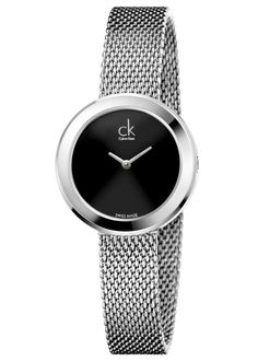 Calvin Klein Ck Firm Black Face Womens Watch K3N23121 £170.00 Pure. Discreet. ck firm offers an elegant, clean and sophisticated look. #calvinklein #watch #ladies #sophisticated