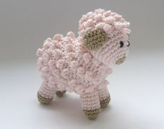 Items similar to Amigurumi Little Pink Sheep / Lamb Handmade Crocheted Soft Toy on Etsy - Handmade Worker Crochet Sheep, Crochet Amigurumi, Cute Crochet, Crochet For Kids, Amigurumi Patterns, Crochet Animals, Crochet Crafts, Crochet Dolls, Yarn Crafts