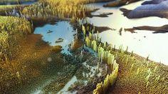 3DPixel Landscapes on Behance